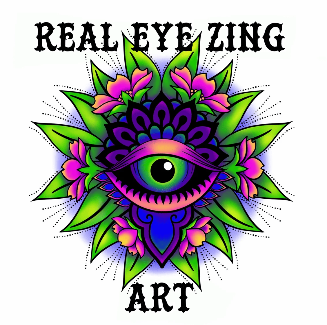 Real eye zing art logo